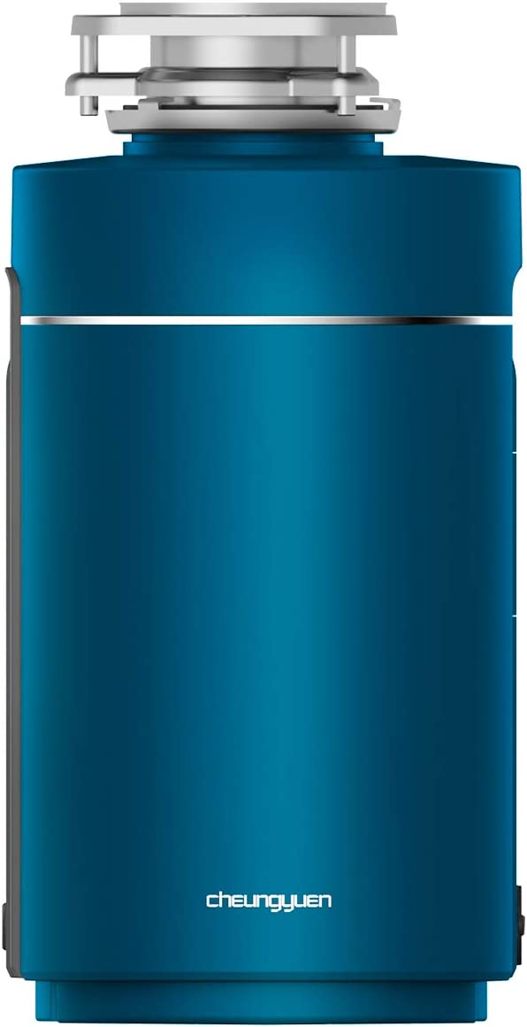 CheungYuen Garbage Disposal,1/2 HP Continuous Feed,Used to grind food scraps,black (Blue)