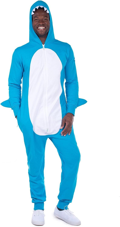 Men's Shark Costume - Shark Jumpsuit Onesie for Men