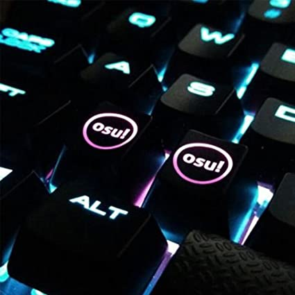 HFSECURITY 2 Pcs Backlight OSU Keycaps for Cherry Keyboard Backlit  Mechanical Keyboard Keycap