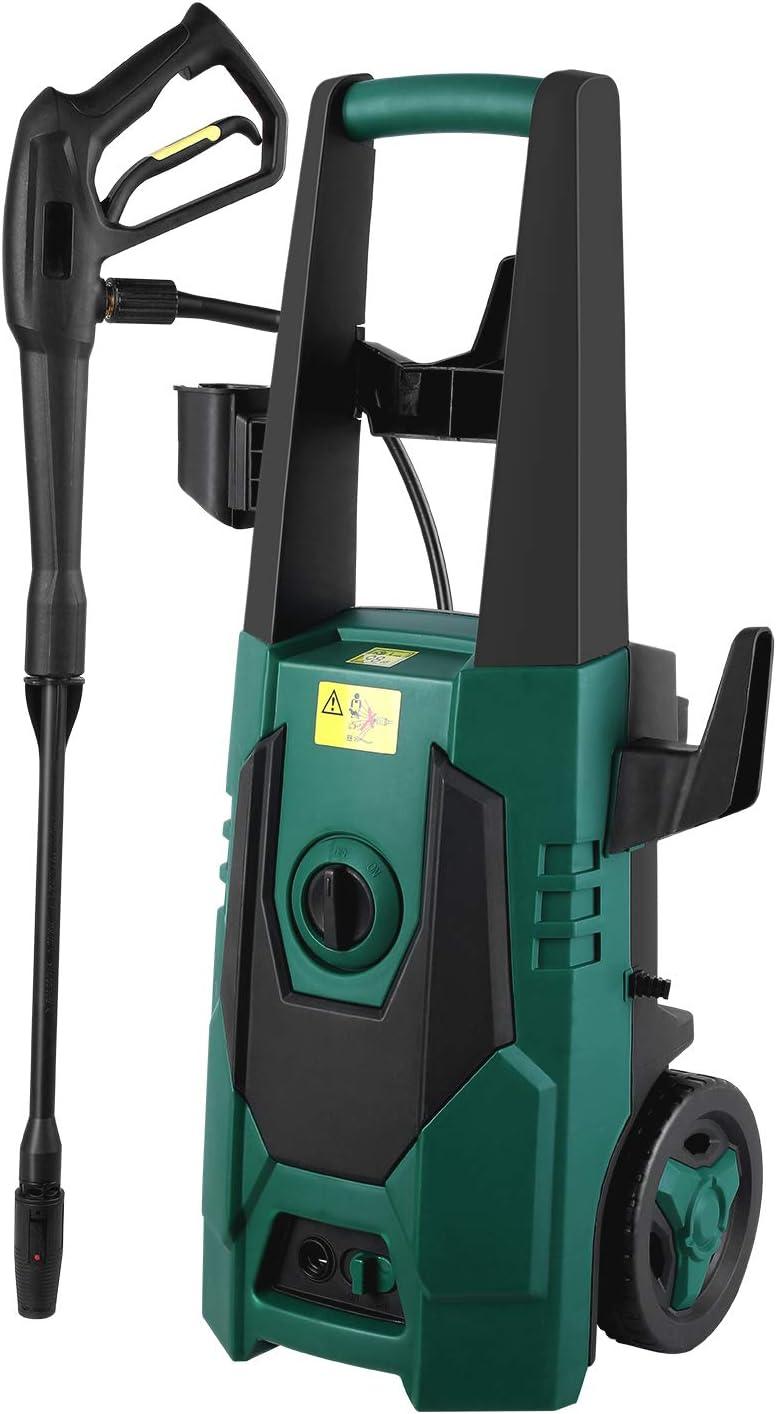 FIXKIT Hochdruckreiniger 1800W, Druck: Max. 160 bar, F/ördermenge: 480 l//h, 1x Hochdruckpistole, 2x Einstellbare D/üse, 1x Fl/ächenreiniger, 9,7 m Kabel, 6,2 m Schlauch