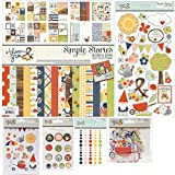 Simple Stories Bloom and Grow Bundle - Collection Kit, 4x6 Inch Stickers, Chipboard Stickers, Die-cuts, Enamel Dots, Bradz (6 Items)