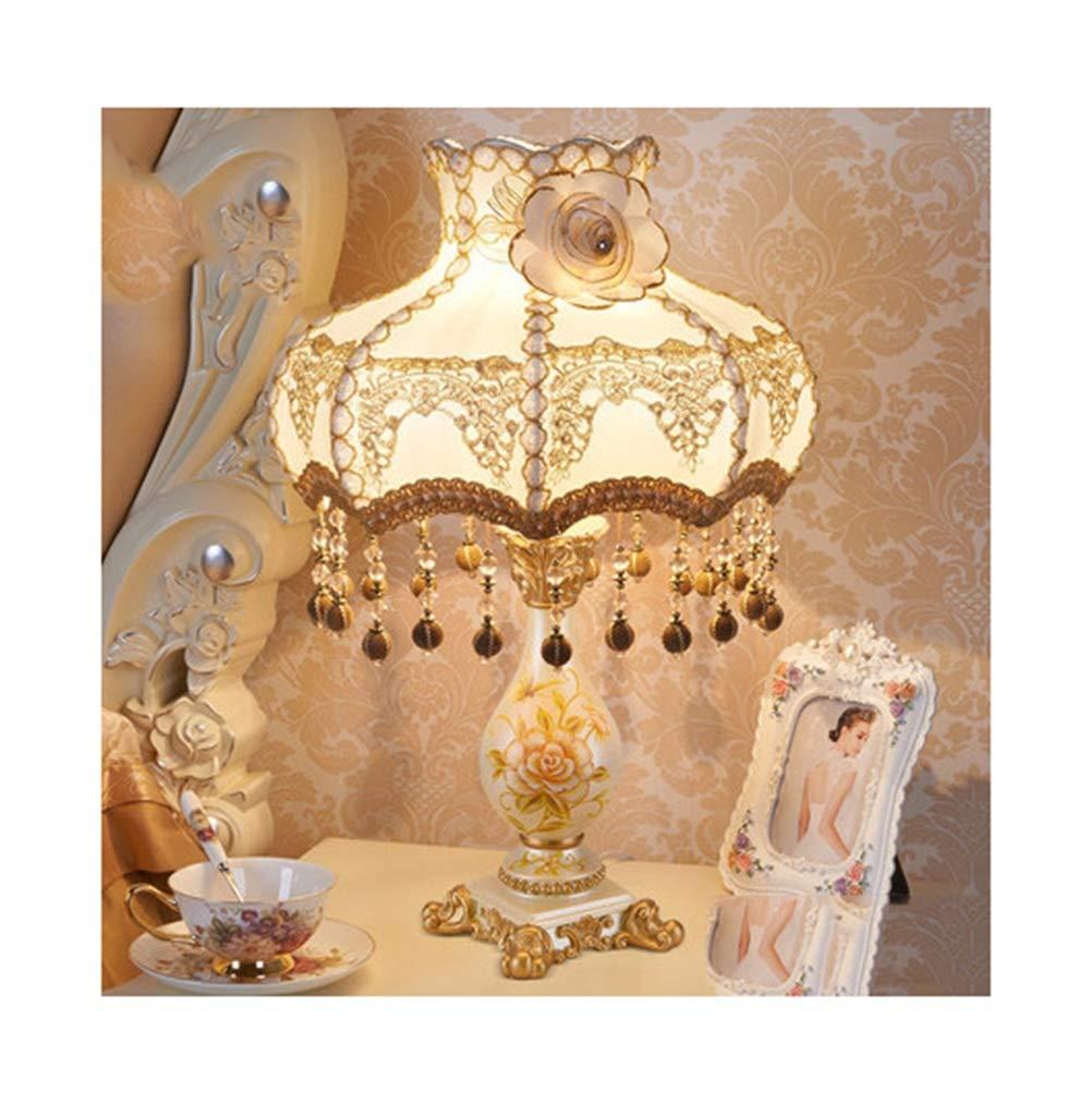 WPQW テーブルランプ高級クリエイティブシンプルな結婚式の部屋の装飾デスクランプ暖かい王女の生活人格読書ランプ -347 電気スタンド (色 : O, 設計 : Remote control) B07QML7F4D D ボタン ボタン|D