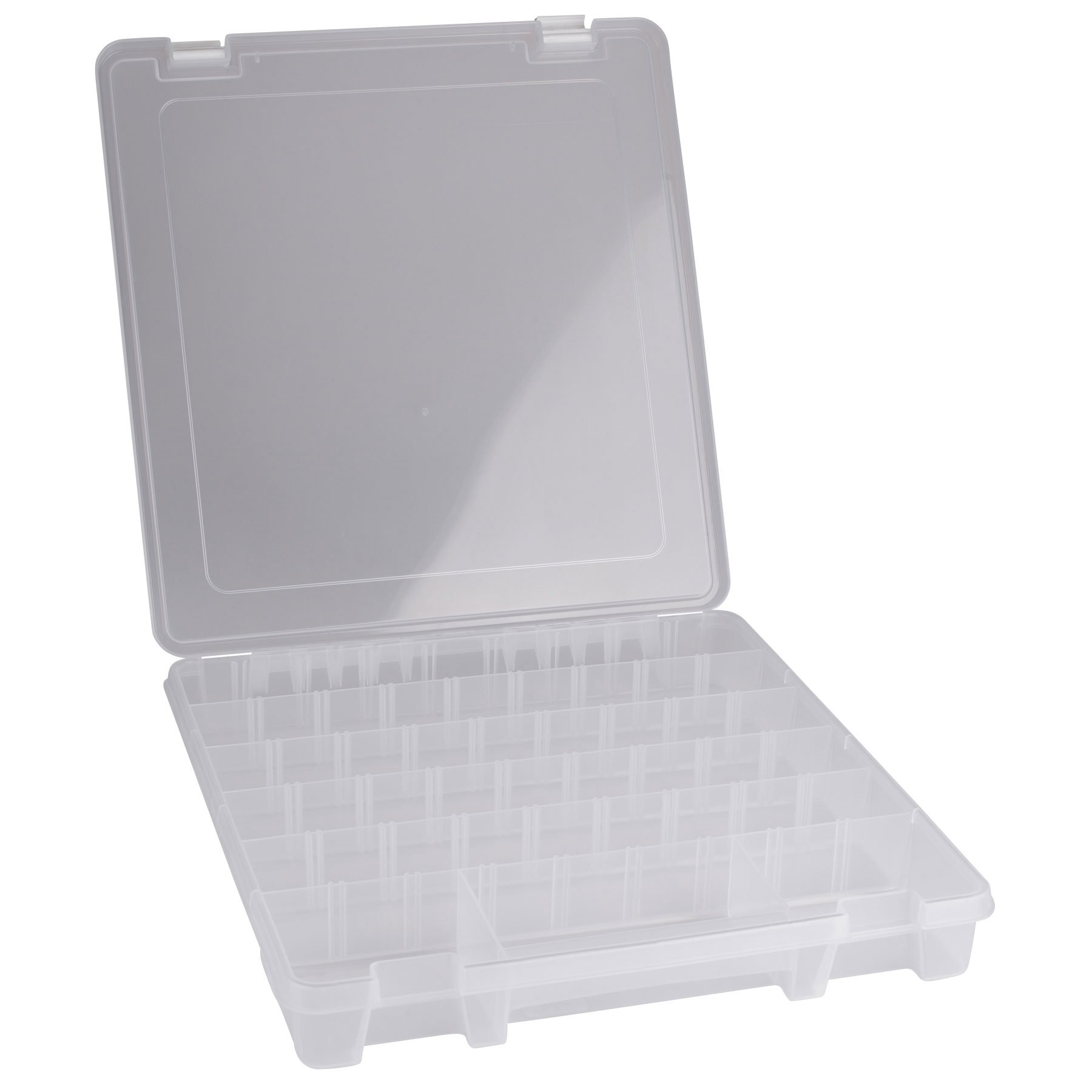 8 to 28 Compartment Parts Box Includes 20 Dividers 15.25 inch x 14 inch x 2 inch