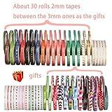 48 Rolls Washi Tape,Foil Gold Skinny Decorative Masking Washi Tapes,3MM Wide DIY Japanese Masking Tape Supplies