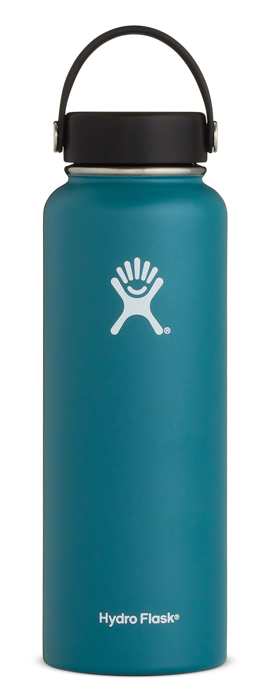 Hydro Flask Water Bottle - Stainless Steel & Vacuum Insulated - Wide Mouth with Leak Proof Flex Cap - 40 oz, Jade by Hydro Flask
