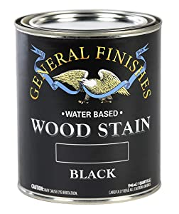 General Finishes WBQT Water Based Wood Stain, 1 Quart, Black