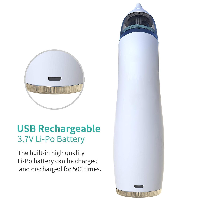 USB Aspirador Nasal Electrico con Pantalla LED 4 Boquillas de Succi/ón de Saca Mocos Bebe Reutilizables Limpieza de Nariz para Beb/é Aspirador Limpiador de Oidos para Beb/és Aspirador Nasal