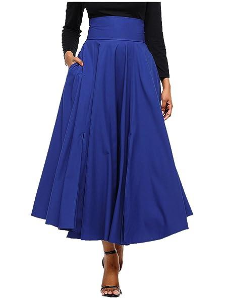 CTOOO Vendimia Señoras De Estilo Victoriano Alta Cintura Retro Falda Para Mujer