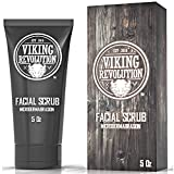 Facial Hair Removal Scrub - Microdermabrasion Face Scrub for Men - Facial Cleanser for Skin Exfoliating, Deep Cleansing, Removing Blackheads, Acne, Ingrown Hairs - Men's Face Scrub for Pre-Shave (1 Pack)