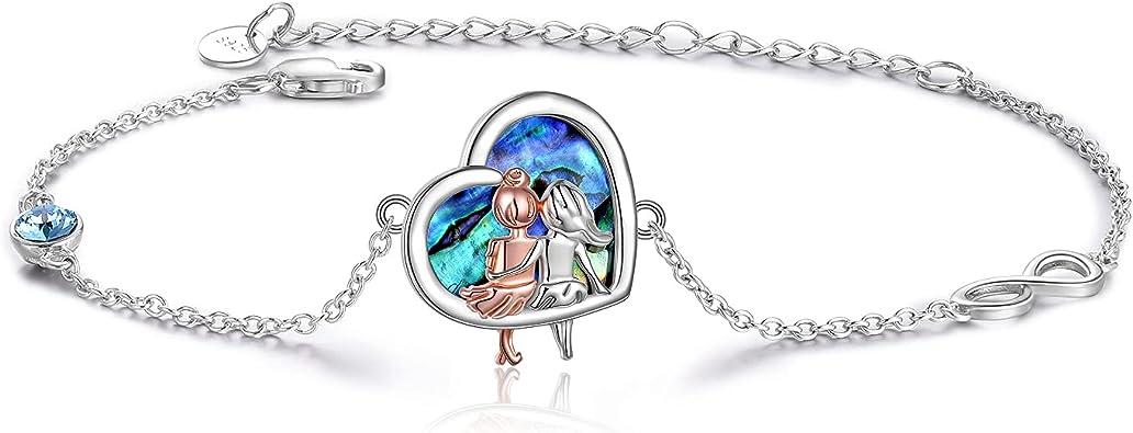 WISH Infinity Charm Bracelet Mothers Day Gifts Gold Jewelry Sister Jewelry Pearl Charm Bracelet Wedding Jewelry