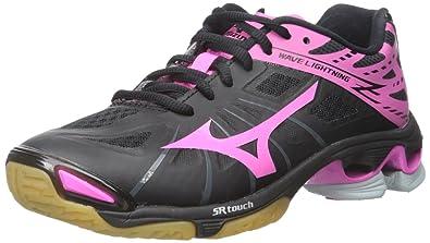 Mizuno Zapatos De Voleibol Negro Y Rosa xXMEF