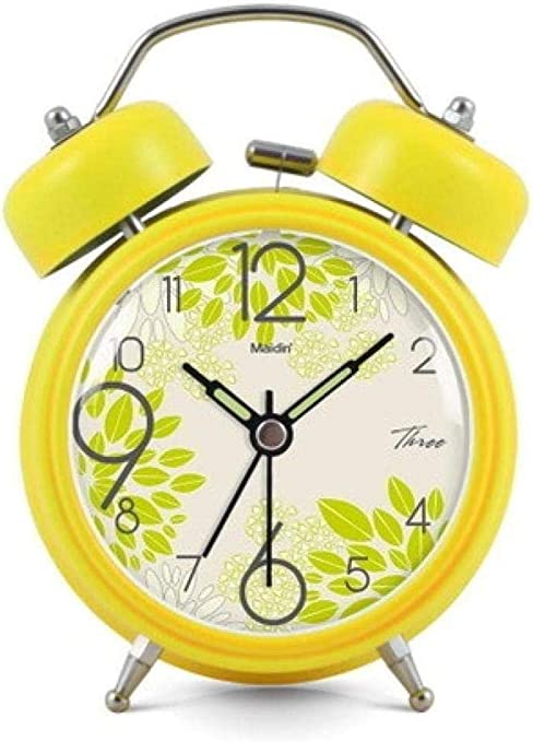 JIAHANLI Reloj Despertador Reloj de Mesa de Color sólido de Estilo ...