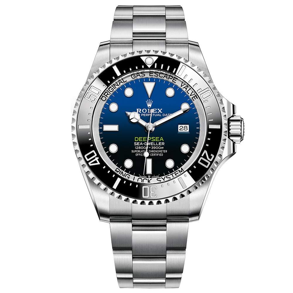 Rolex Sea Dweller Deepsea Blue Dial Oyster Bracelet Stainless Steel Mens 126660