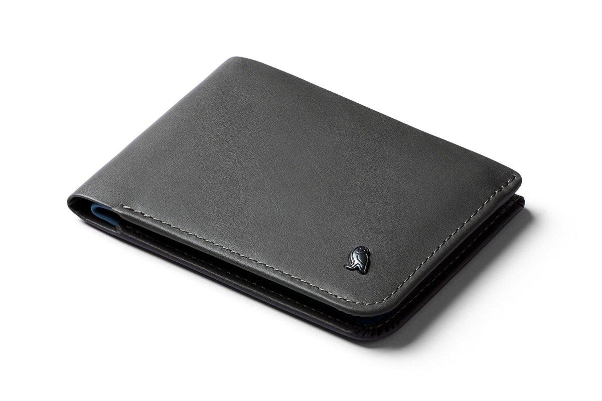 Bellroy Leather Hide & Seek Wallet Charcoal - RFID