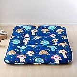 Mushroom Tatami Deisgn Polyester Mat - Children Antiskid Play And Baby Crawling Carpet 59 x 79 Inch