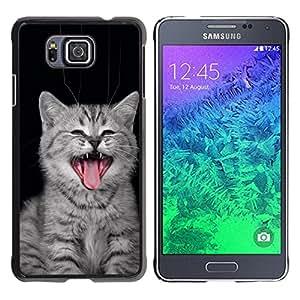 EJOY---Cubierta de la caja de protección la piel dura para el / Samsung ALPHA G850 / --Gato del bostezo