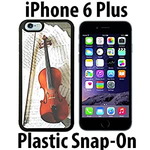 Violin Music Sheet Masters Custom made Case/Cover/skin FOR iPhone 6 PLUS -Black- Plastic Snap On Case ( Ship From CA)