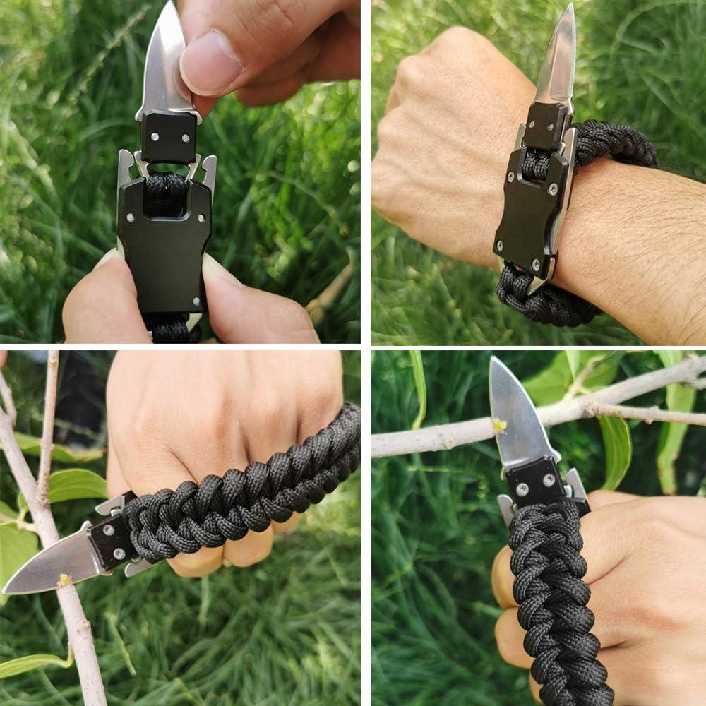 WEREWOLVES Paracord Knife Bracelet Paraclaw Knife Bracelet Survival Cord Bracelets Multitool Surviva…
