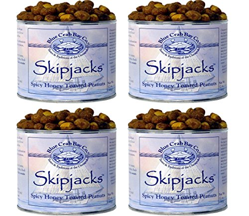 Colony Bay 1 Light - Blue Crab Bay Co. Skipjacks, Spicy Honey Roasted Peanuts, 12-Ounce Cans (Pack of 4)