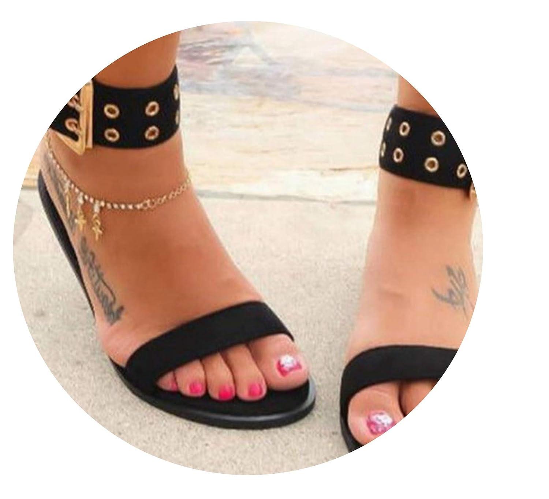 Amazon.com | Peak Sandals Women Sandals Transparent Flats ...