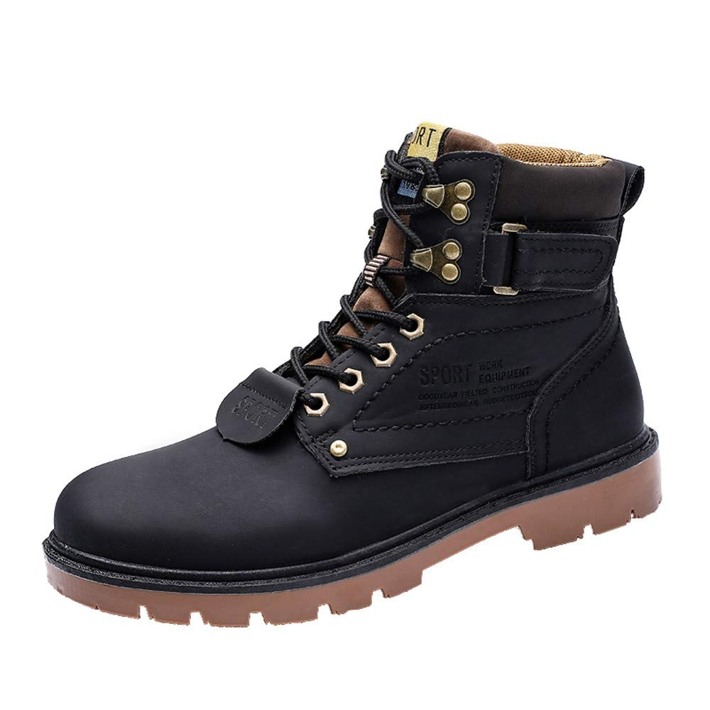 7beca377b49 Men Leather Boots, Winter Ankle Boots, Boots Non-Slip Wear-Resistant ...