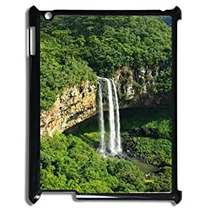 3D Caracol Falls IPad 2,3,4 2D Case for Girls, Case for Ipad 2 3 4 [Black] by icecream design
