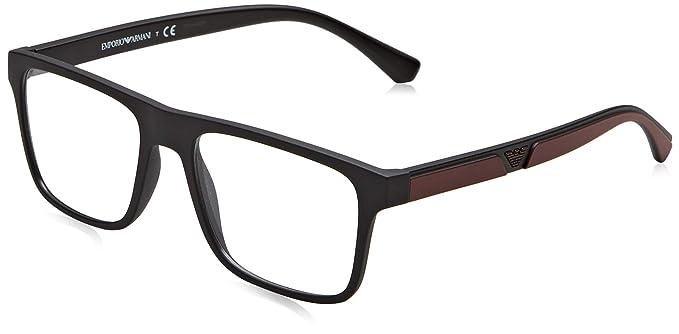 Emporio Armani 0EA4115 Gafas de sol, Matte Black, 54 para Hombre