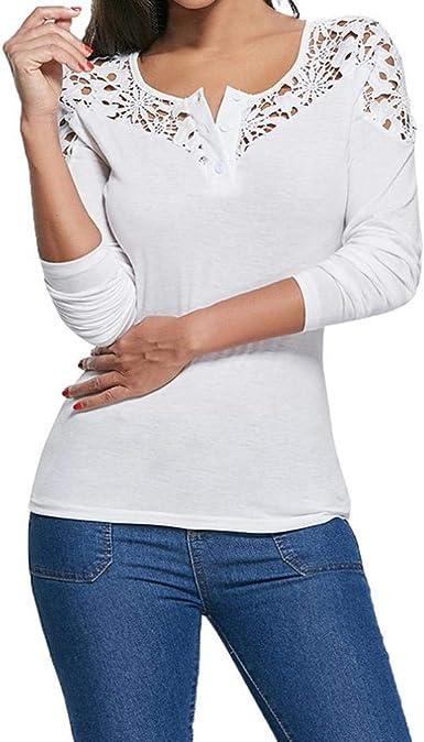 Camisa De Manga Otoño Larga Mujer Moda Vintage Slim Fit ...