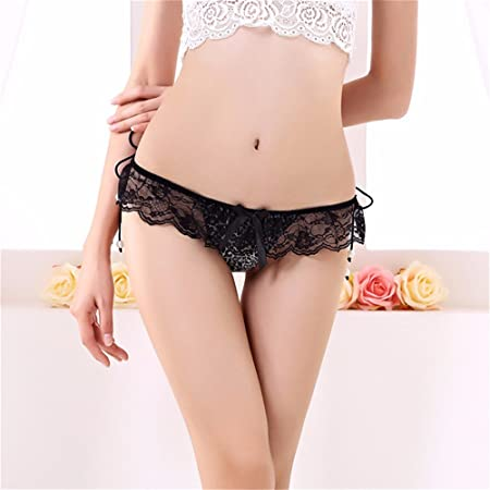 Amazon.com: Vory Fashion Bandage Lace Thongs String Sexy Underwear Women Transparent Panties Calcinha Ropa Mujer Thong Briefs,Black Leopard,One Size: Sports ...