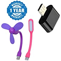 captcha Mini Micro USB OTG to USB Adapter with Flexible Portable Mini USB Fan and Portable Flexible Mini USB Led Light