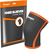 Tomight Sports Knee Sleeve 7mm Neoprene Compression Brace for Relieving Joint Pain and Arthritis, Good Support for Running,Jogging,Workout, Gym, Hiking,biking