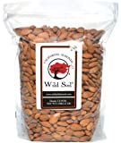 Wild Soil Almonds - Distinct and Superior to Organic, Herbicide Free, Steam Pasteurized, Probiotic, Raw 3LB Bag, Emergency Food, Survival Food