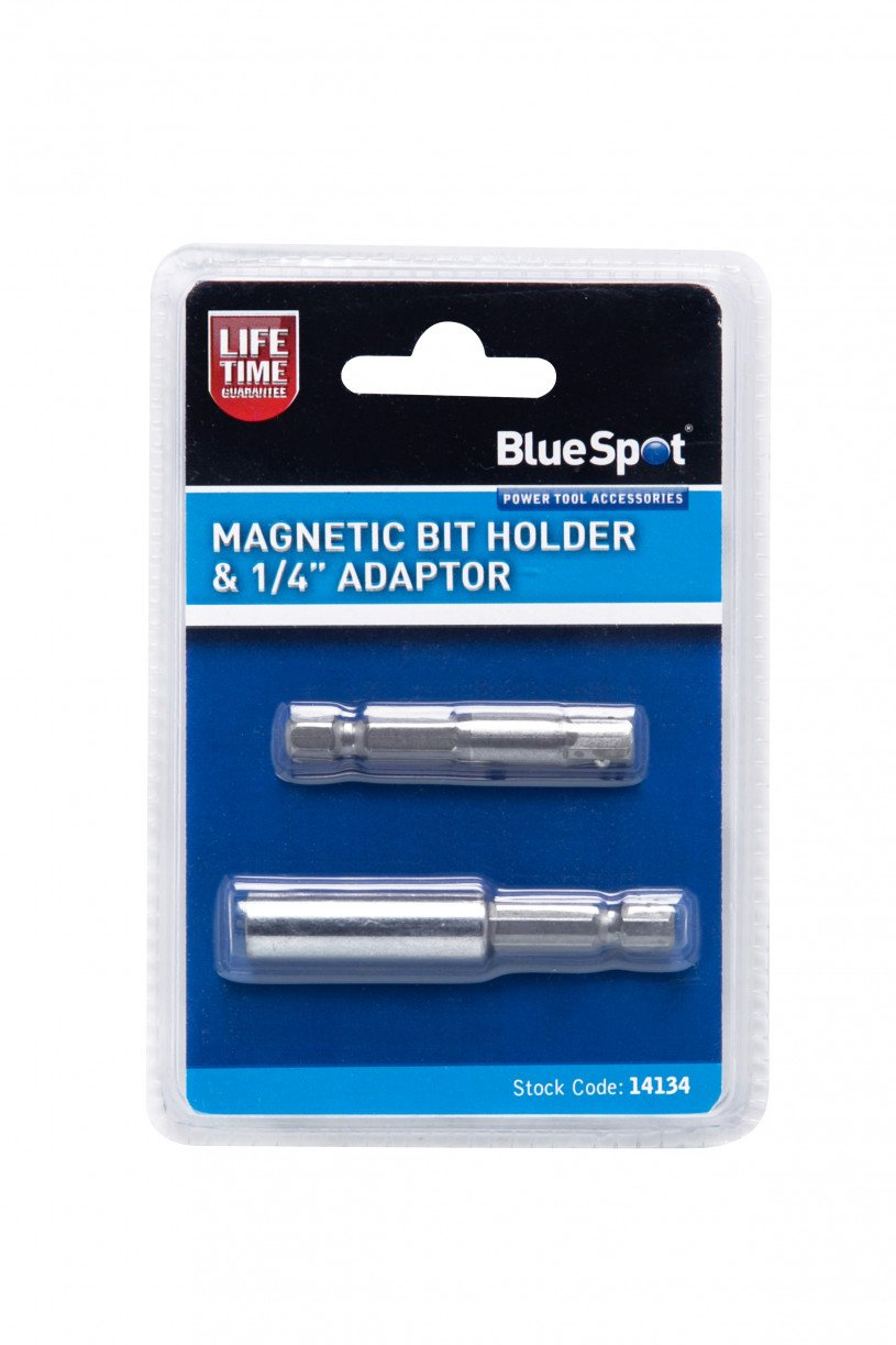Silver 1//4-inch Blue Spot 14134 Magnetic Bit Holder and Adaptor