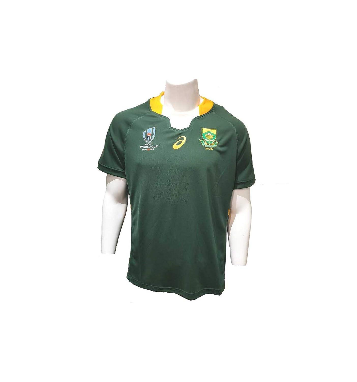 Oak Green 3XL ASICS South Africa Men's RWC 2019 Home Shirt