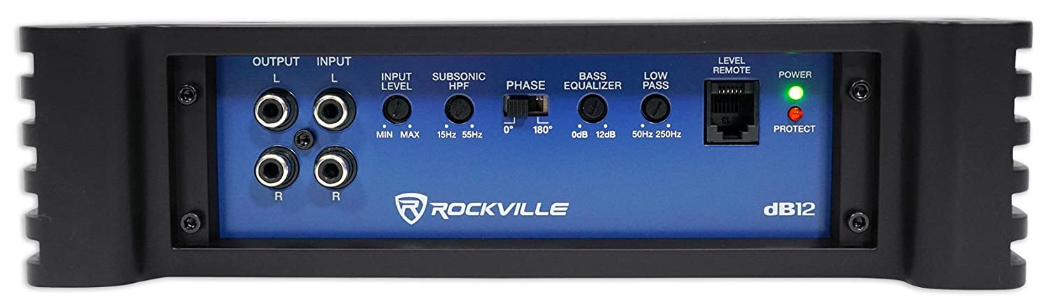Amazon.com: Rockville dB12 2000w Peak / 500w RMS @ 2 Ohm CEA ...