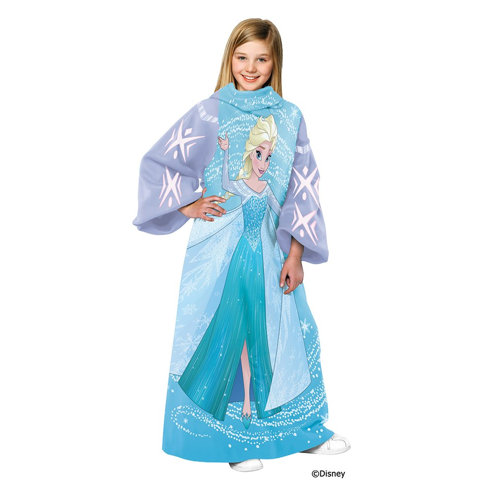 Disney Frozen, Swirling Storm Youth Comfy Throw Blanket with Sleeves, 48'' x 48'' by Disney