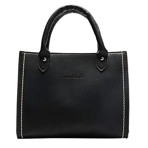 a7f543ed38f666 Borse A Mano Donna Pelle, Mambain Moda Eleganti Casual Retro Borsa A Spalla  Crossbody,Grigio/Nero/Rosa: Amazon.it: Scarpe e borse