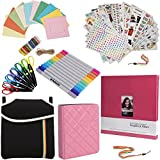 Holiday Gift Accessory Bundle FOR Fuji Instax (Mini 8, 26, 90, 300) - 8x8'' Scrapbook + Pouch + 6 Edged Scissors + Album + 7 Colorful Sticker Sets + Twin Tip Markers + Hanging Frames +Neck/Hand Strap