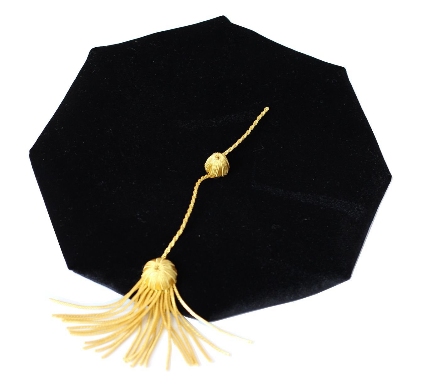 lescapsgown Deluxe Doctoral Graduation Gown Hood and Tam 8Sided Package Size 54 by lescapsgown (Image #4)