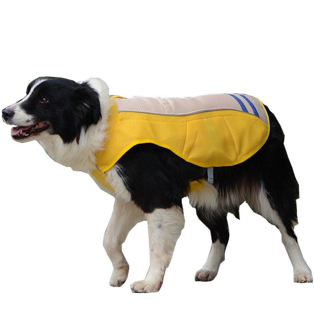 orange Medium Chest 19.6-30.7\ orange Medium Chest 19.6-30.7\ SGODA Dog Cooling Vest Harness Jacket, orange, Medium