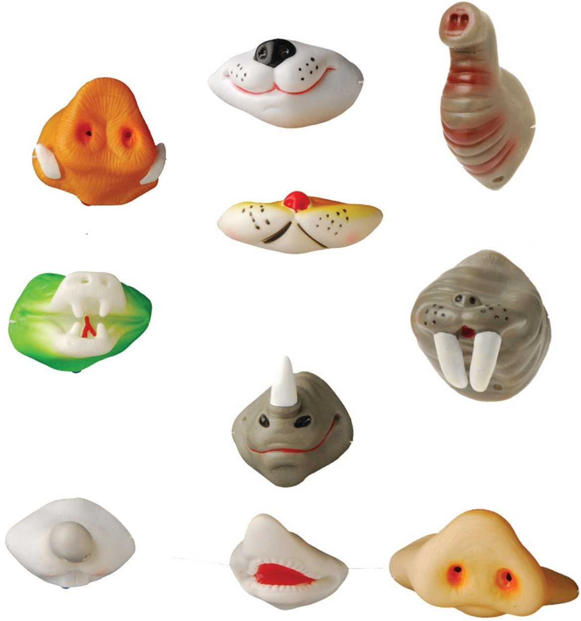 Assorted Animal Noses 24 Pack of Animal Series Nose Masks