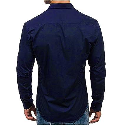 Boyang ✿ Camisas de Manga Larga para Hombre ✿ Camisa de Manga ...