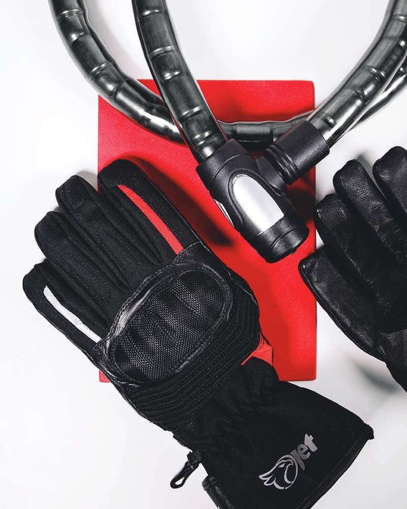 Jet Guanti Moto Invernali Impermeabile T/érmico Pelle Textil Protezione Nocche SAFARI S, Nero