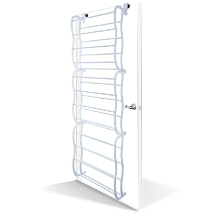 oxgord shoe rack for 36 pair over the door shelf closet wall hanging organizer storage stand - Over The Door Shoe Rack