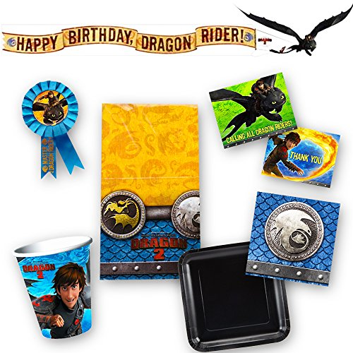 How to Train Your Dragon Party Supplies Ultimate Set -- Birthday Party Decorations, Plates, Cups, Napkins, Table Cover and More!