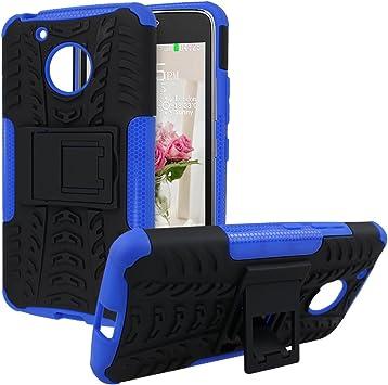 Rosa Schleife Funda Moto G5 Carcasas Moto G5 Silicona Fundas Gel Case Híbrida Armadura Resistente Protectora Movil Cover con Soporte Caso para Motorola Moto G5 Smartphone Negra + Azul: Amazon.es: Juguetes y