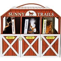 Sunny Trails Farms 3 Books & Play Horse Stable Barn Playset