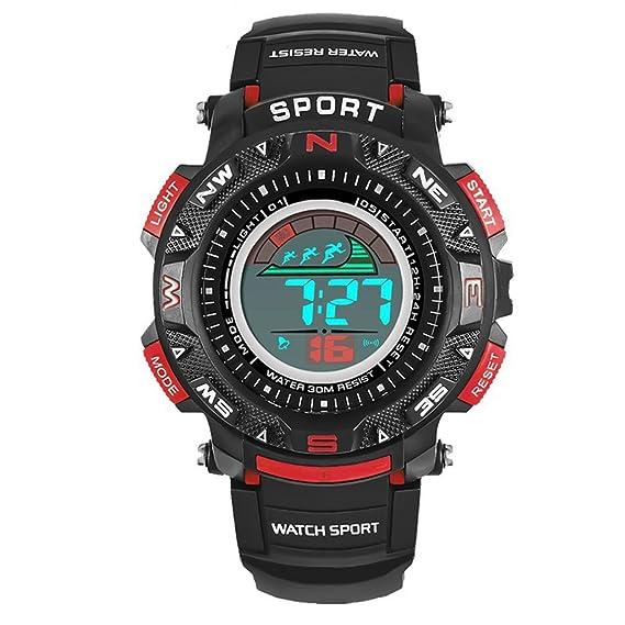 Reloj hombres Reloj Deportivo Multifunción Impermeable Para Hombre Reloj Digital Electrónico (Color : Orange): Amazon.es: Relojes
