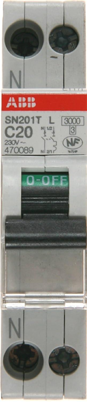 ABB 470086 Disjoncteur modulaire phase plus neutre 10 A
