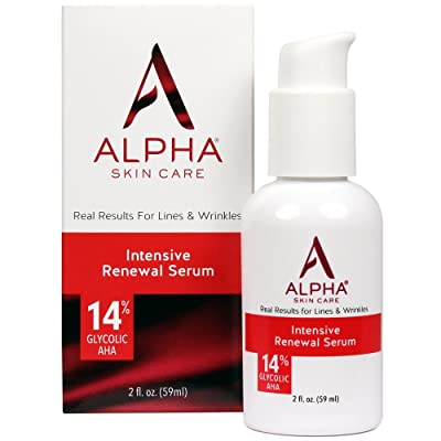 Alpha Skin Care Intensive Rejuvenating Serum with 14% glycolic AHA, 2 Fluid Ounce by Alpha Skin Care